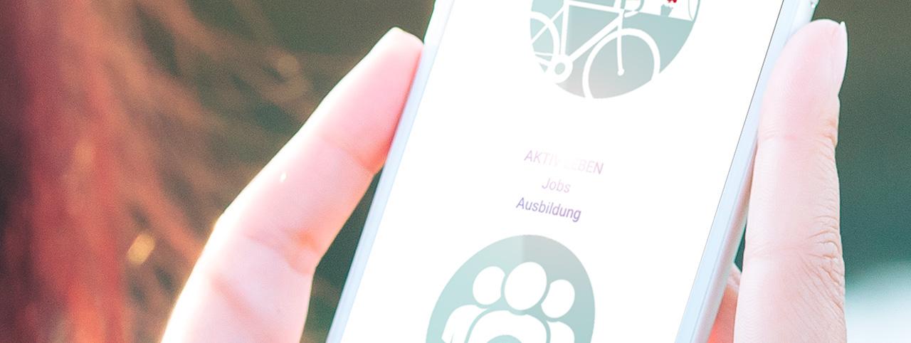 mobiltelefon-mit-aktiv-leben-webseite jobangebote